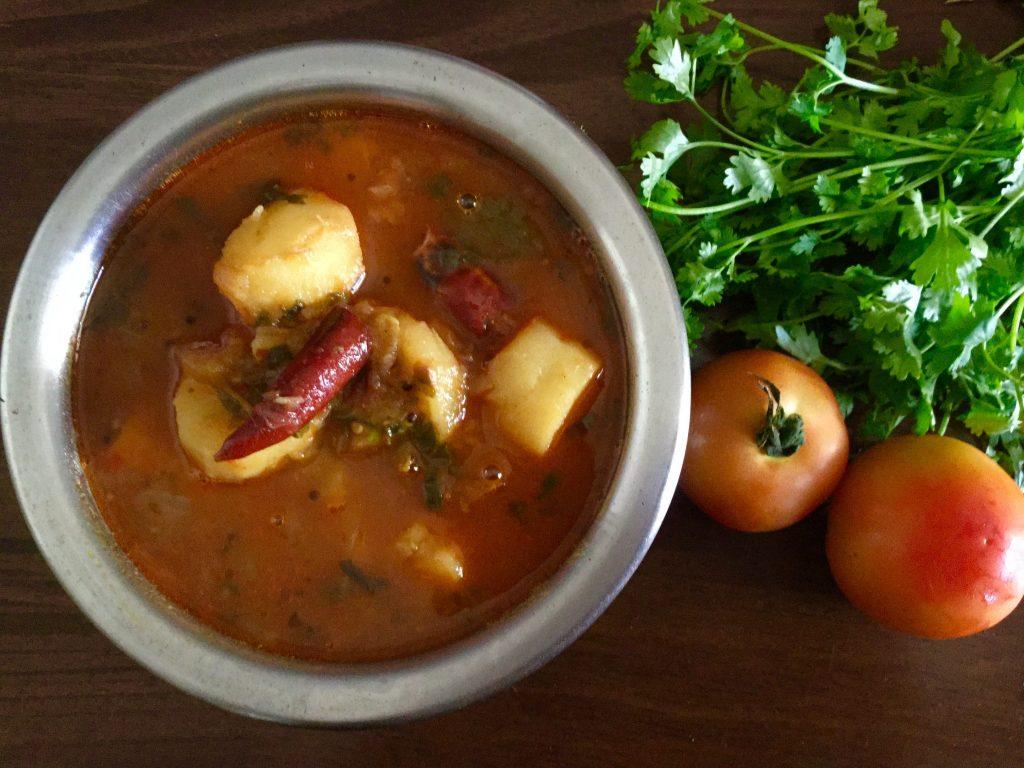 Sweet Potato Stew | Chilakada Dumpa Pulusu Recipe