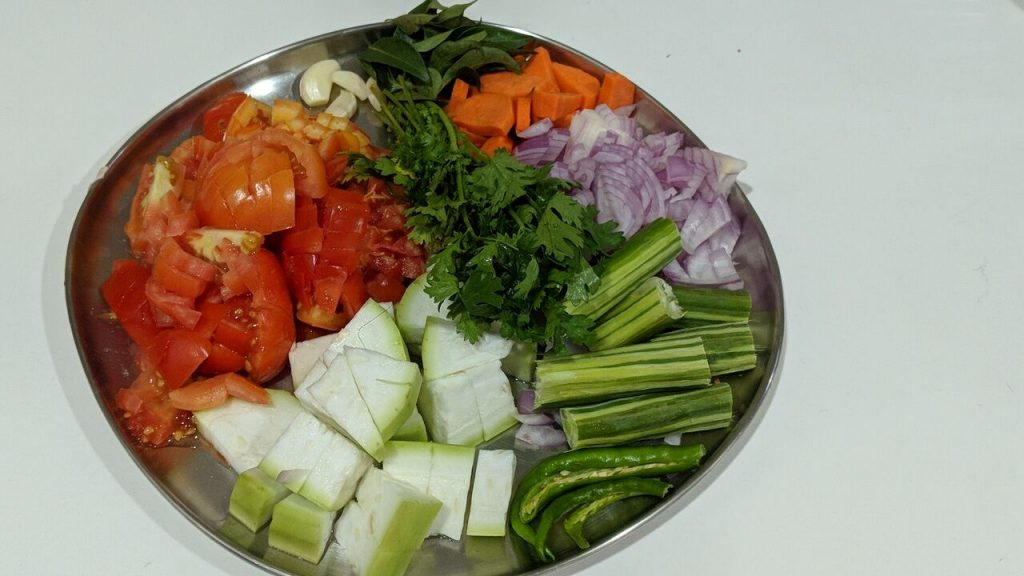Mukkala Pulusu Recipe-Sweet and Sour Mixed Vegetables Stew